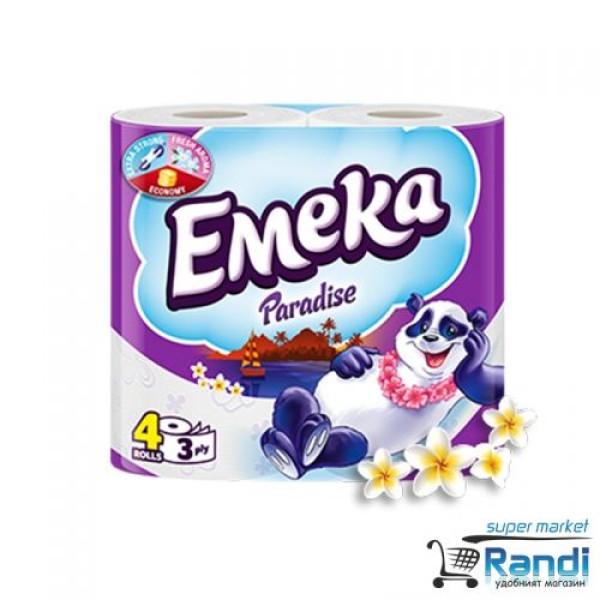 Тоалетна хартия Емека Paradise 4бр.