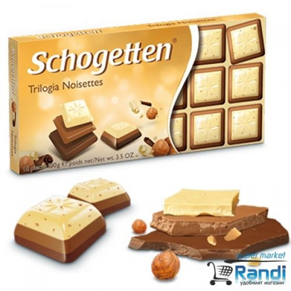 Шоколад Shogetten Trilogia Noisettes 100гр.