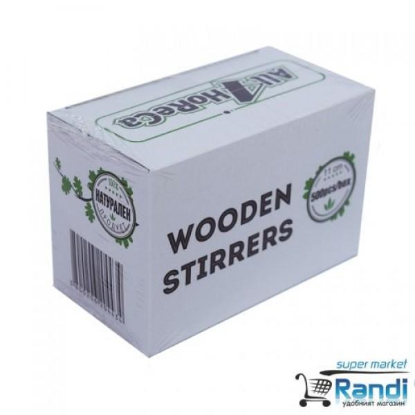 Дървени бъркалки за кафе Wooden Stirrers 11см. 500бр.