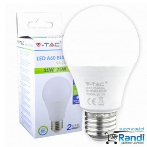 Светодиодна LED крушка V-TAC E27  11w=75w  sku- 4453