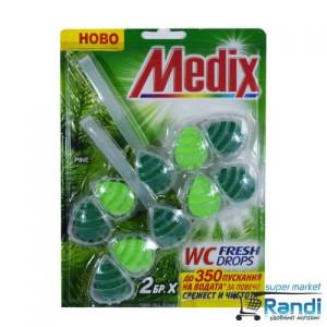 Тоалетно блокче Medix WC Power drops бор 2бр.* 55гр.