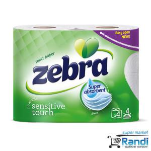 Тоалетна хартия Zebra eco 4бр.