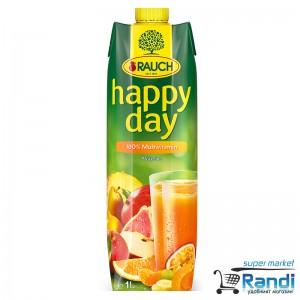 Сок мултивитамин 100% Rauch Happy Day 1л.