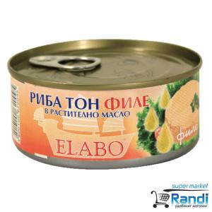 Риба тон филе в растително масло Elabo 160гр.
