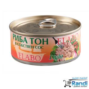 Риба тон парченца в собствен сос Elabo 160гр.
