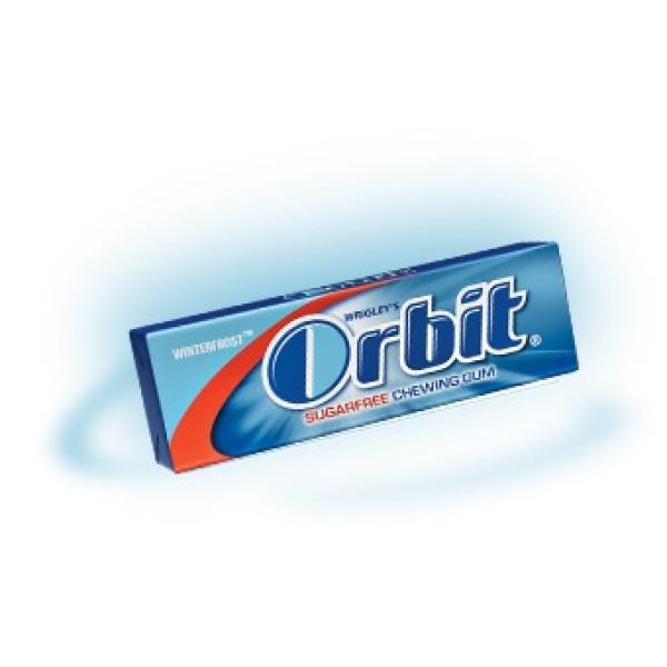 Дъвки Orbit winterfrost (тъмно синя лента)