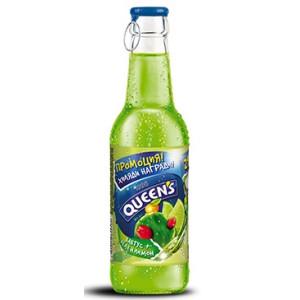 Негазирана напитка Кактус+зелен лимон Queen's 250мл.