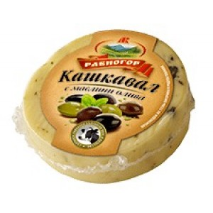 Кашкавал с маслини олива Равногор 220гр.